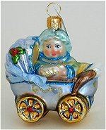 Baby in Carriage Blue