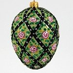 Faberge Inspired  Rose Trellis Egg