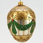 Faberge Inspired  Green Garland Egg