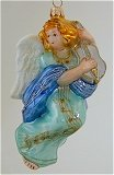 Angel with Fiddle Blue