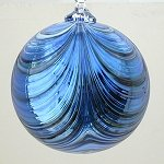 Swirled Ornament Blue